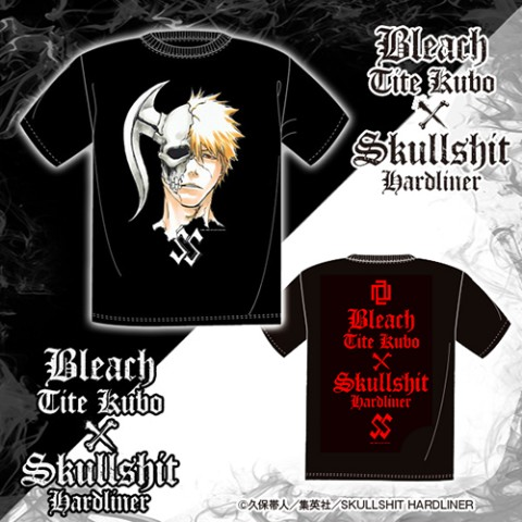 BLEACH TITE KUBO × SKULLSHIT HARDLINER Collaboration T-sh (XLサイズ)