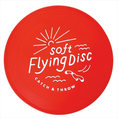 【フリスビー】SOFT FLYING DISC(Red)