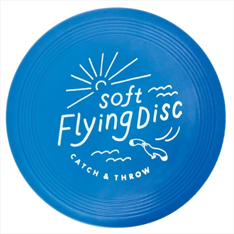【フリスビー】SOFT FLYING DISC(Blue〉
