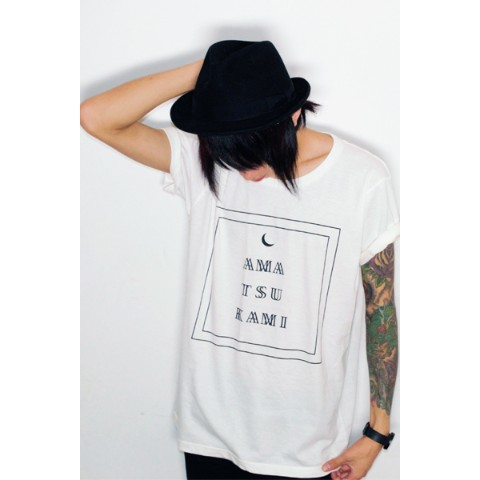【アマツカミ】Moon Box T-Shirt (White 2XLサイズ)