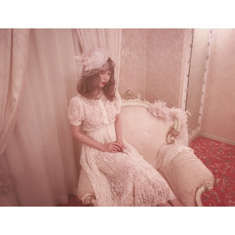 【Violetta】 Michelle - Lace pleated dress