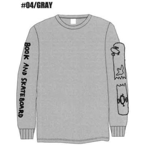 MARK GONZALES VV別注 L/S TEE SLEEVE PRINT GRY L
