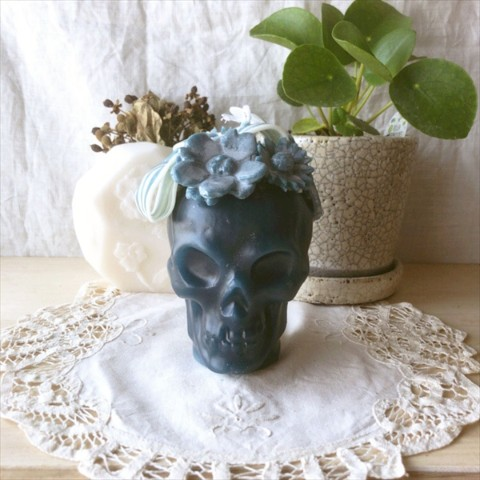 【10mei candle works】skull (ネイビー)