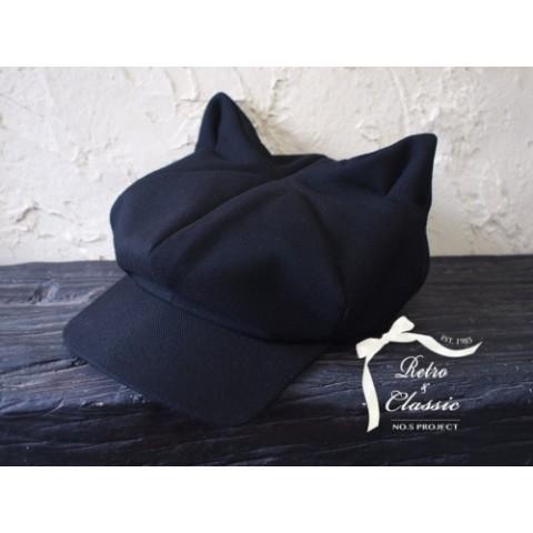 【NO.S PROJECT】変わった形のネコミミ帽子 猫耳キャスケット