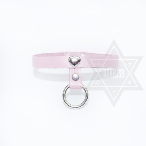 【Devilish】Love ring choker(pink)