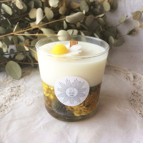 【10mei candle works】botanical glass(シトラスの香り)