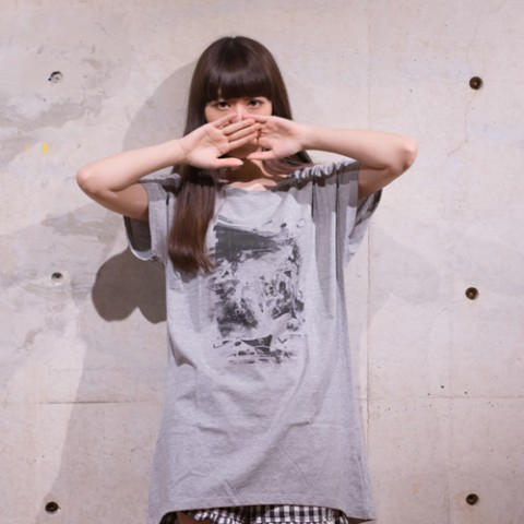 【sacabbage】Mono/mono one piece T-shirts (ヘザーグレー)