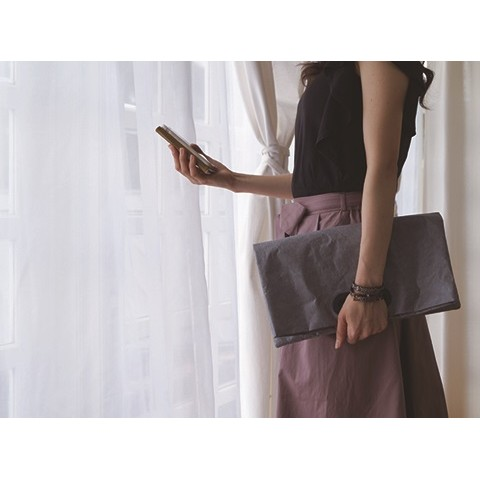 SLOWER BAG CLUTCH GRAY