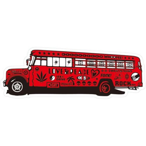 【ステッカー】SCRAWL BUS RED【YOICHIRO】