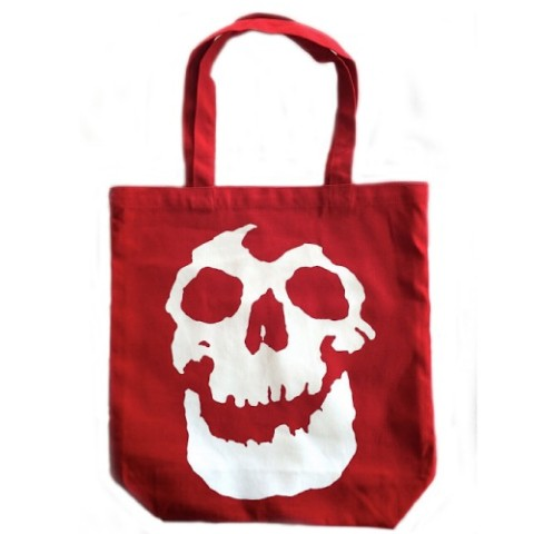 "【SKULLSHIT】""Skull Of Terror"" Tote Bag(レッド)"