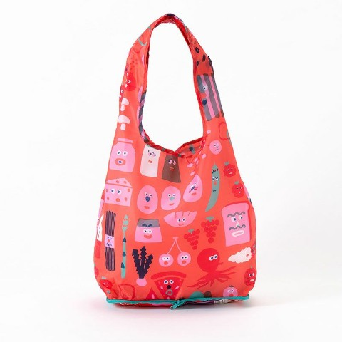 【エコバッグ】KAKUZOKO BAG AIUEO M(FOOD CHAN)