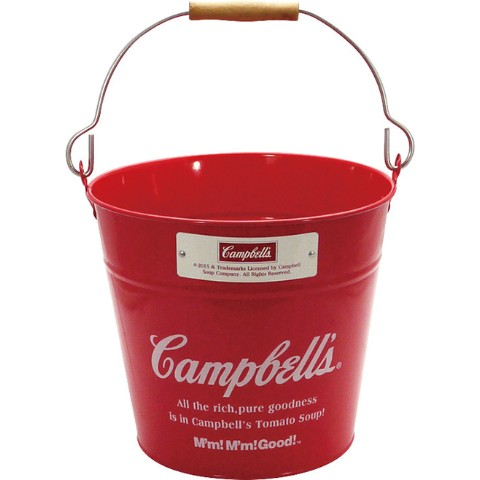 【Campbell's】スチールバケツ(RED)