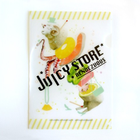 【Pola】A5クリアファイル「JUICY ANIMALS」