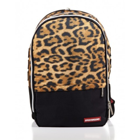 【SPRAYGROUND】$tashed Money Leopard Polyester Backpack