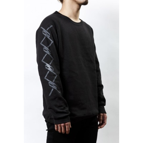 【PassCode】CREW NECK SWEAT (BLACK)『CHAIN』 S