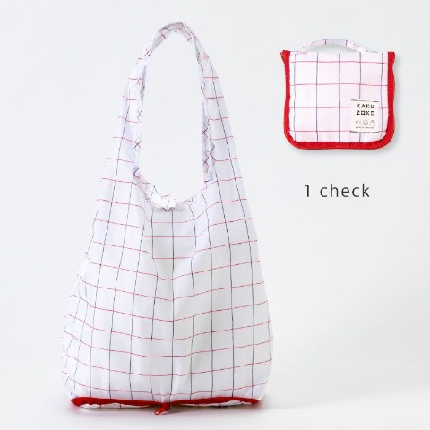 【エコバッグ】KAKUZOKO BAG M(check)