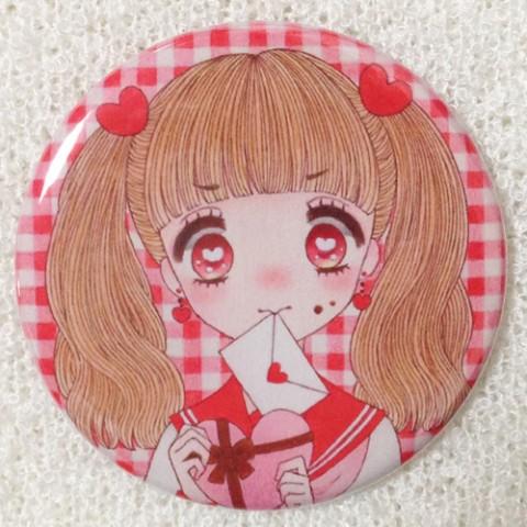 【一花めめ】缶ミラー-バレンタインデー