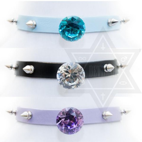 【Devilish】diamond girl choker(ブラック)