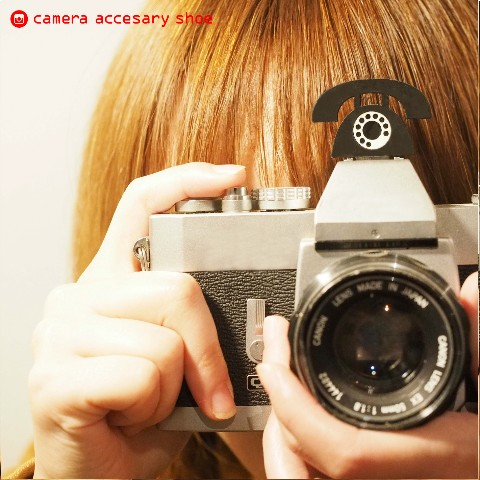 【KOU sLicer】camera hot shoe -Brack phone-
