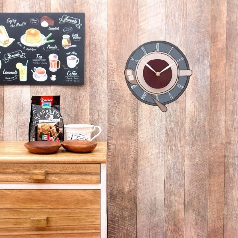 【WALL CLOCK STICKER】CAFE CUP