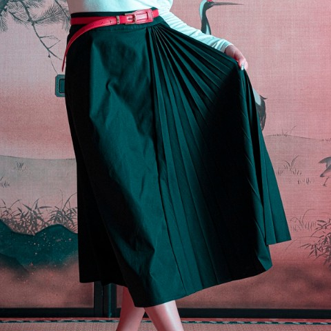 【CuLLt】 Side Pleats Skirt