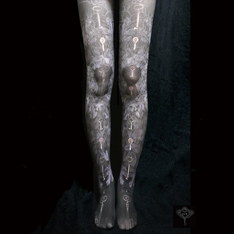 "【A.li.E】5th LEGWEARS""TIGHTS ?""(black)"