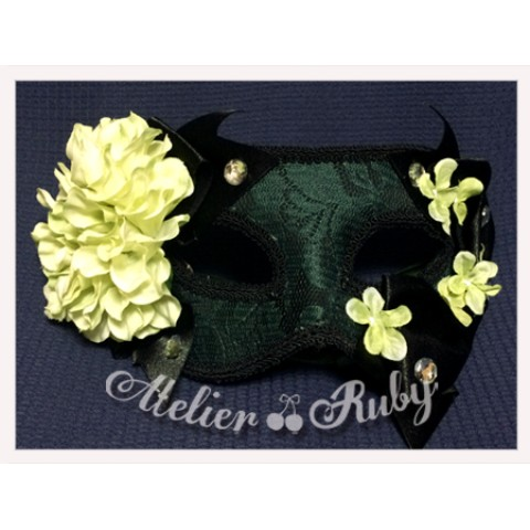 【Atelier Ruby】Mask Headdress-Elegance Lace Flower/GR