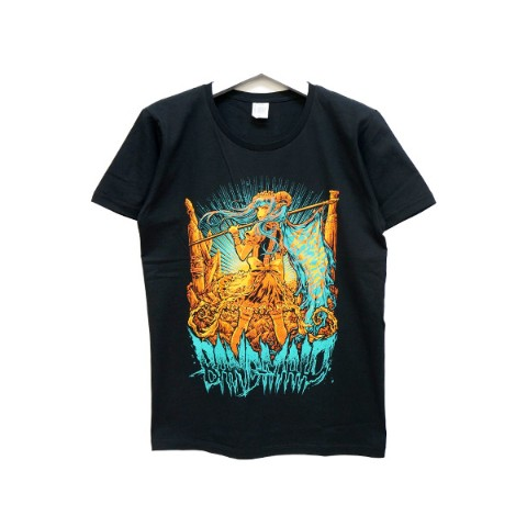 BAND-MAID Tシャツ KagaMI Design B Green / Orange XL