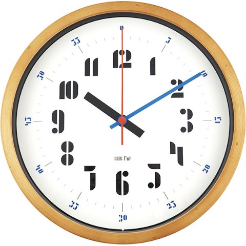 【バウハウス】BAUHAUS Fonts Wall Clock Joschmi Blue