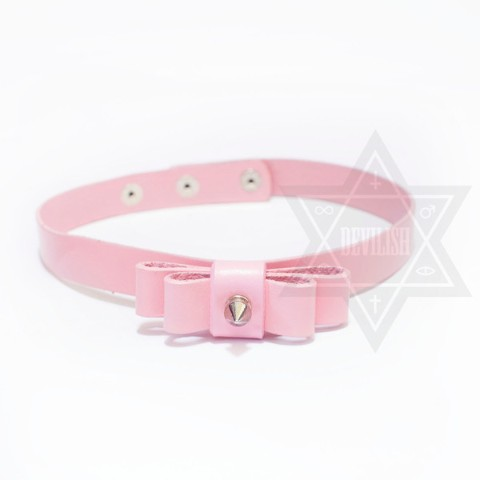 【Devilish】Ribbon choker (pink)
