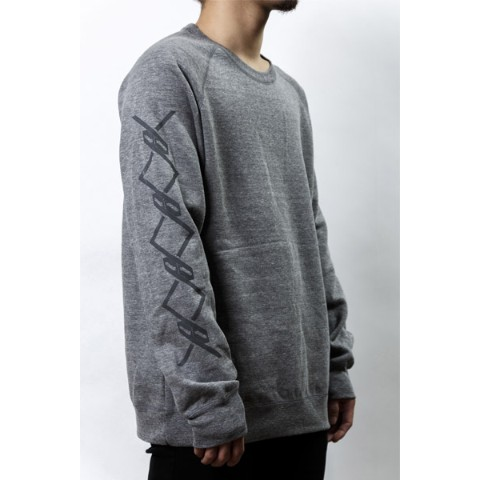 【PassCode】CREW NECK SWEAT (GRAY)『CHAIN』 S
