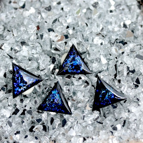 【liimiing】Blue Nebula Triangle イヤリング