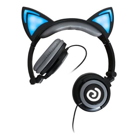 光る猫耳ヘッドフォン(ぐるぐる...
