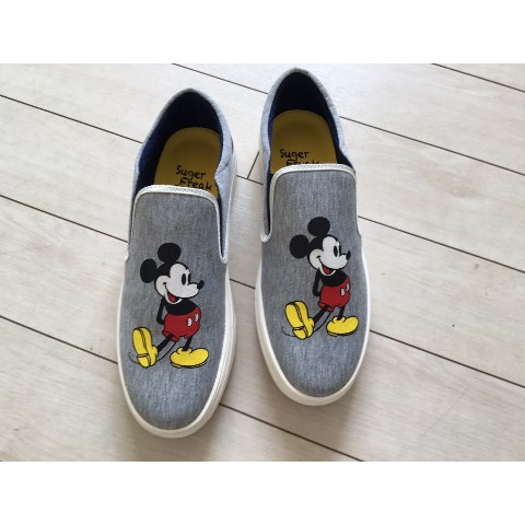【Suger Freak 】×【Disney】GRAY SWEAT FABRIC 23CM