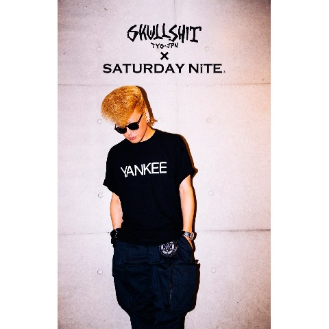 SKULLSHIT × SATURDAY NiTE collaboration「YANKEE Tシャツ」(Lサイズ)