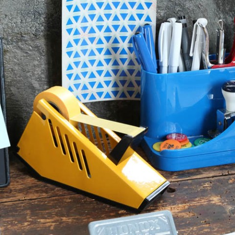 METAL TAPE DISPENSER YELLOW