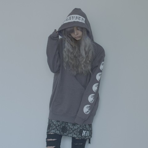 【isxnot】moon parker (Charcoal XXL)