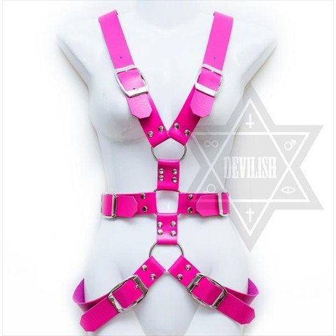 【Devilish】Bandage harness (hot pink)