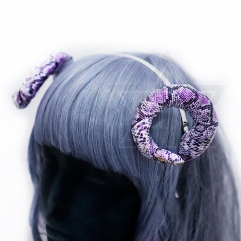 【Devilish】snaky horn hairband