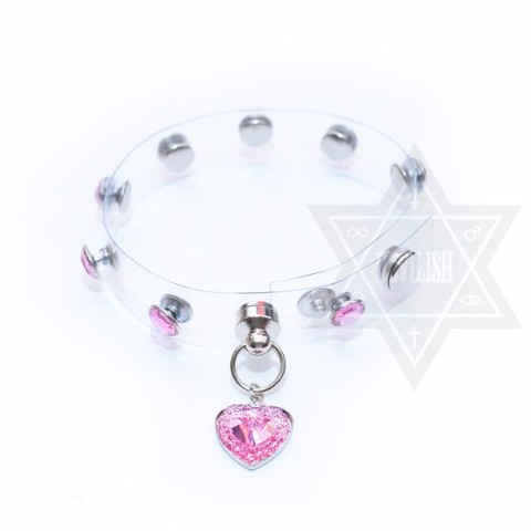 【Devilish】Diamond sheer(Pink) Ankle cuff<足首用>