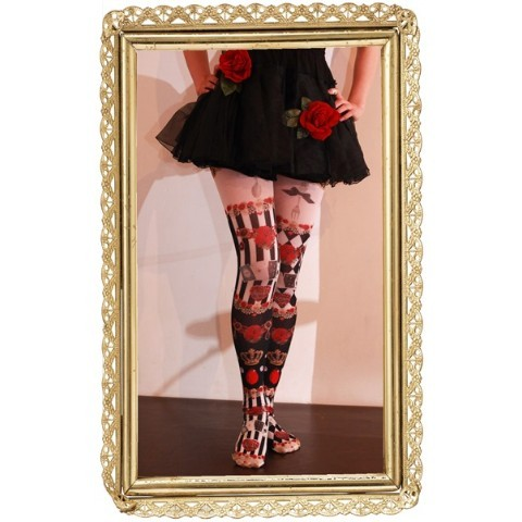 【marywest☆】Red rose crown tights