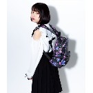 【TRAVAS TOKYO】PU Back Pack [Small] Myriad of bears 【Black/Pink】