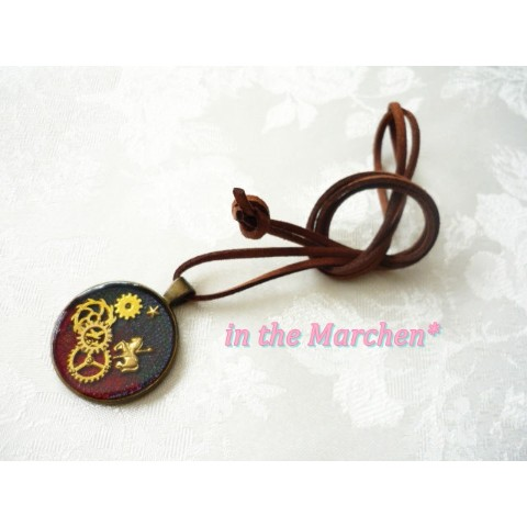 【in the Marchen*】「朝と夜と金のサーカス」ネックレス メルヘン