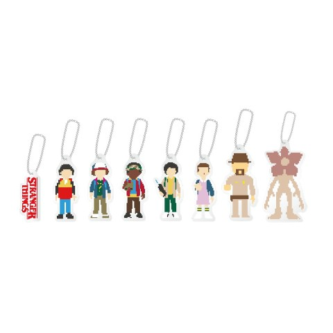 【STRANGER THINGS】 Trading acrylic keychain(8 types in total)【ストレンジャーシングス】