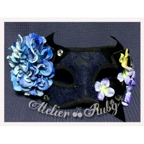 【Atelier Ruby】Mask Headdress-Elegance Lace Flower/BL