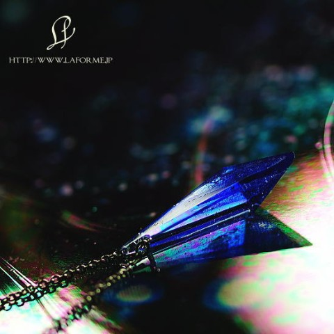 【La forme】Blue triangle crystal【受注製作】